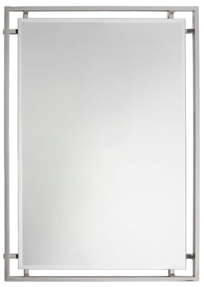 RV Astley Hurricane Nickel Rectangular Mirror - 70cm x 100cm