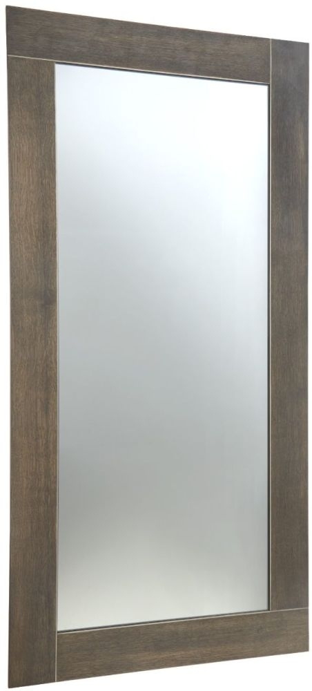 RV Astley Trent Dark Oak Grey Rectangular Wall Mirror - 70cm x 140cm