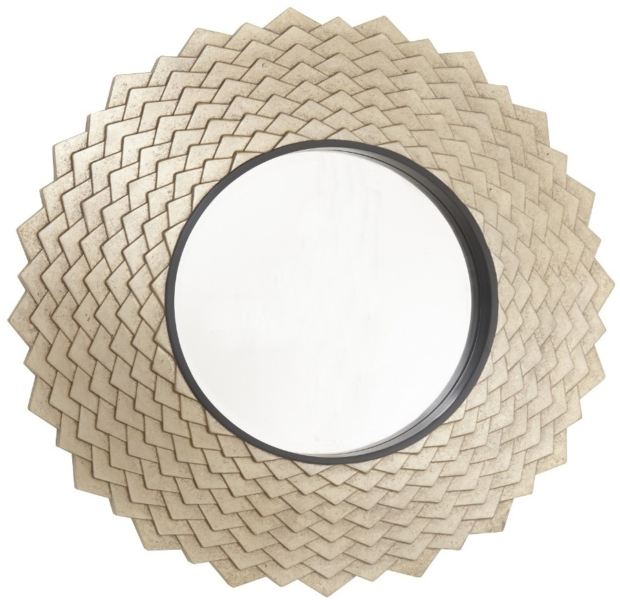 RV Astley Vance Antique Brass Round Wall Mirror - 96.5cm x 96.5cm