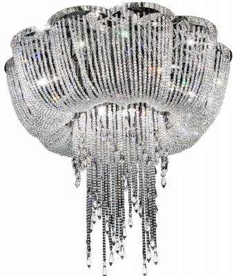 RV Astley Enna Large Draped Crystal Ceiling Light