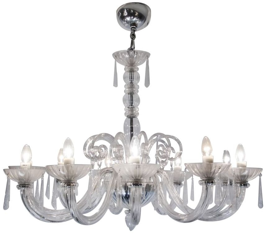 RV Astley 10 Branch Clear Chandelier