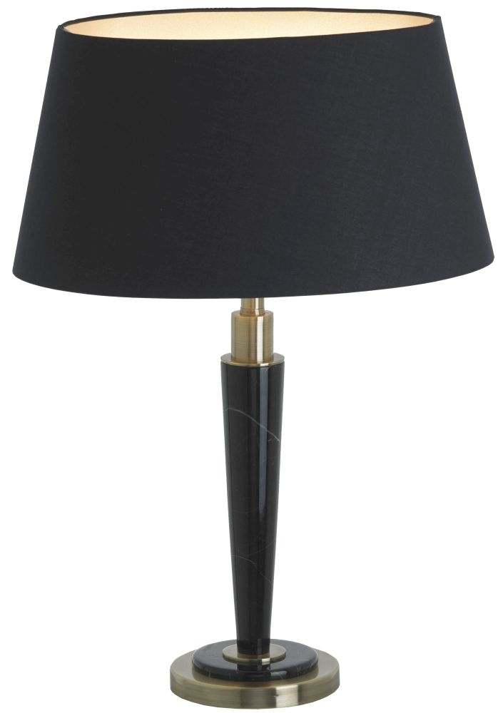 RV Astley Abramo Black and Antique Table Lamp