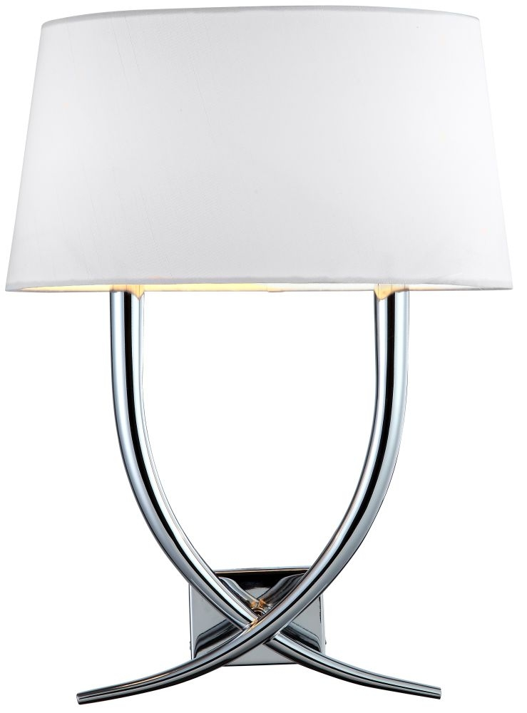 RV Astley Arianna Nickel Wall Lamp - Cream