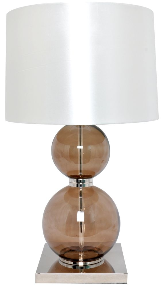 RV Astley Cantal Smoke Glass Balls Table Lamp