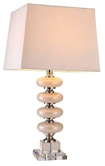 RV Astley Keeva White Glass Table Lamp