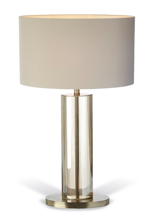RV Astley Lisle Cognac Crystal Table Lamp