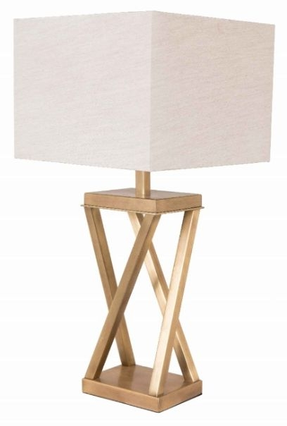 RV Astley Xonomny Table Lamp in Antique Brass Finish
