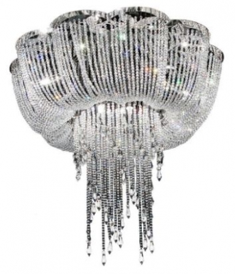 RV Astley Enna Small Draped Crystal Ceiling Light