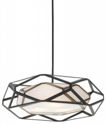 RV Astley Alley Bronze Pendant Light with Shade - Large