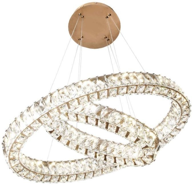 RV Astley Giness Twin Oval Crystal Ceiling Pendant