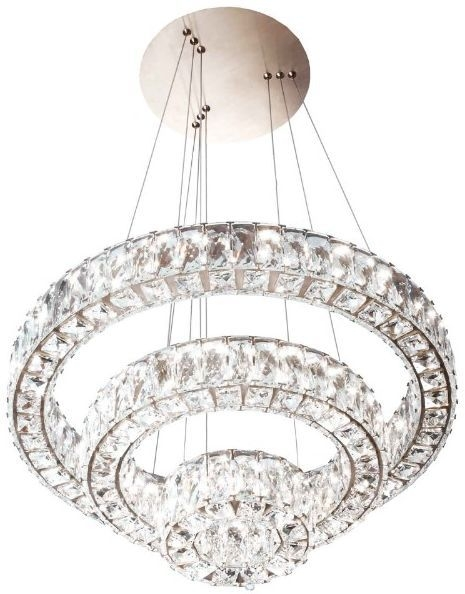 RV Astley Ginnes Crystal Ring Ceiling Pendant