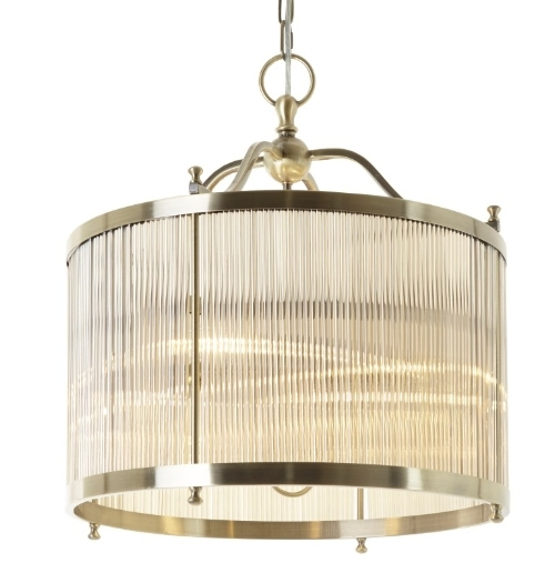 RV Astley Tuclela Antique Brass Ceiling Lamp