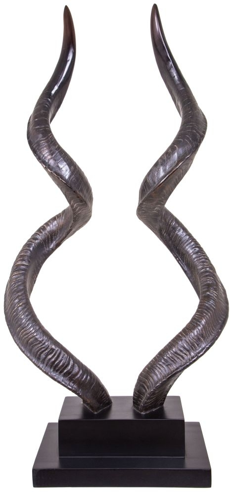 RV Astley Horns A Pinewood Stand - Resin