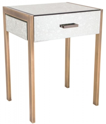 Buy rv astley emilia satin champagne table online cfs uk - Rv side tables ...