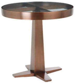 RV Astley Aria Satin Rose Side Table