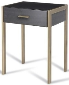 Buy Rv Astley Ettore Antique Brass 1 Drawer Side Table Online Cfs Uk