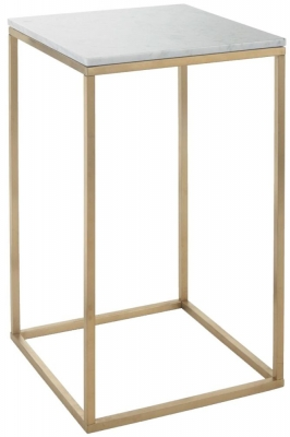 Buy RV Astley Faceby Brushed Gold Side Table Online CFS UK - Brushed gold side table