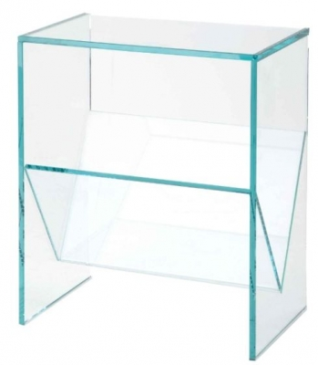 RV Astley Glass Magazine Rack
