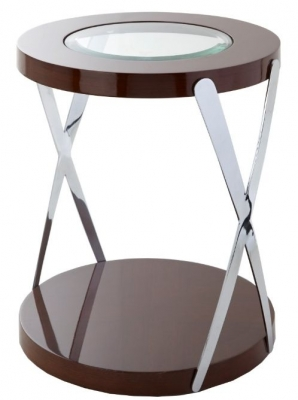 RV Astley Matera Accent Side Table Crome Frame