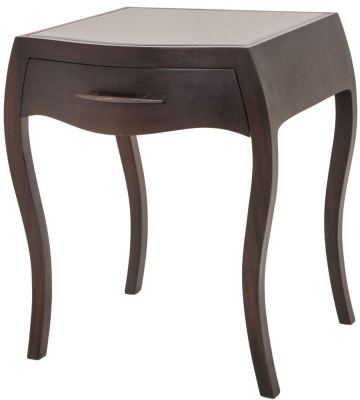 Rv astley dark grey sienna shagreen side table r v astley - Rv side tables ...