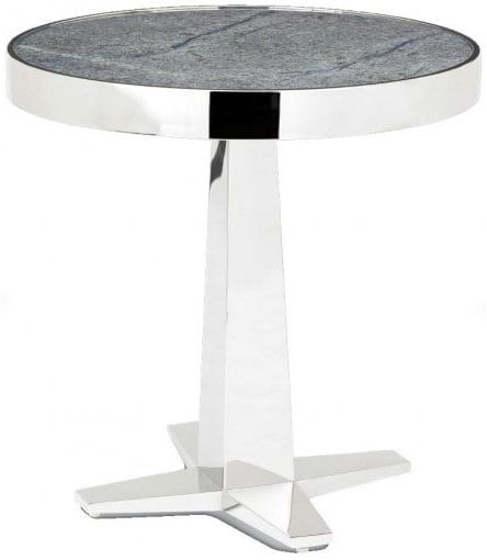 RV Astley Aria Marble with Stainless Steel Side Table