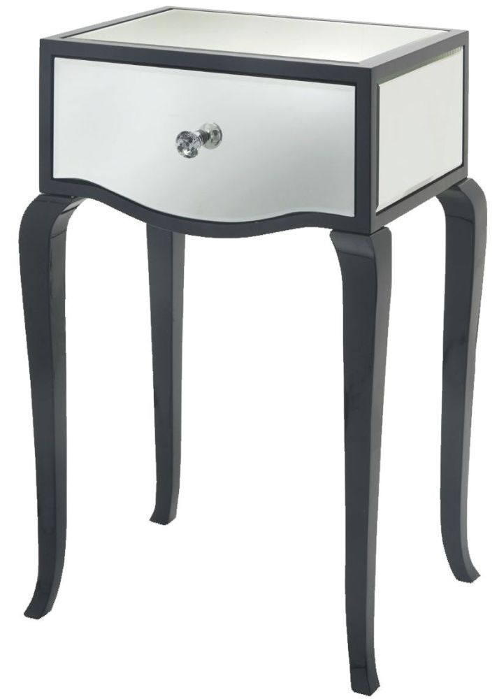 Buy rv astley carn gloss black mirrored side table online cfs uk - Rv side tables ...