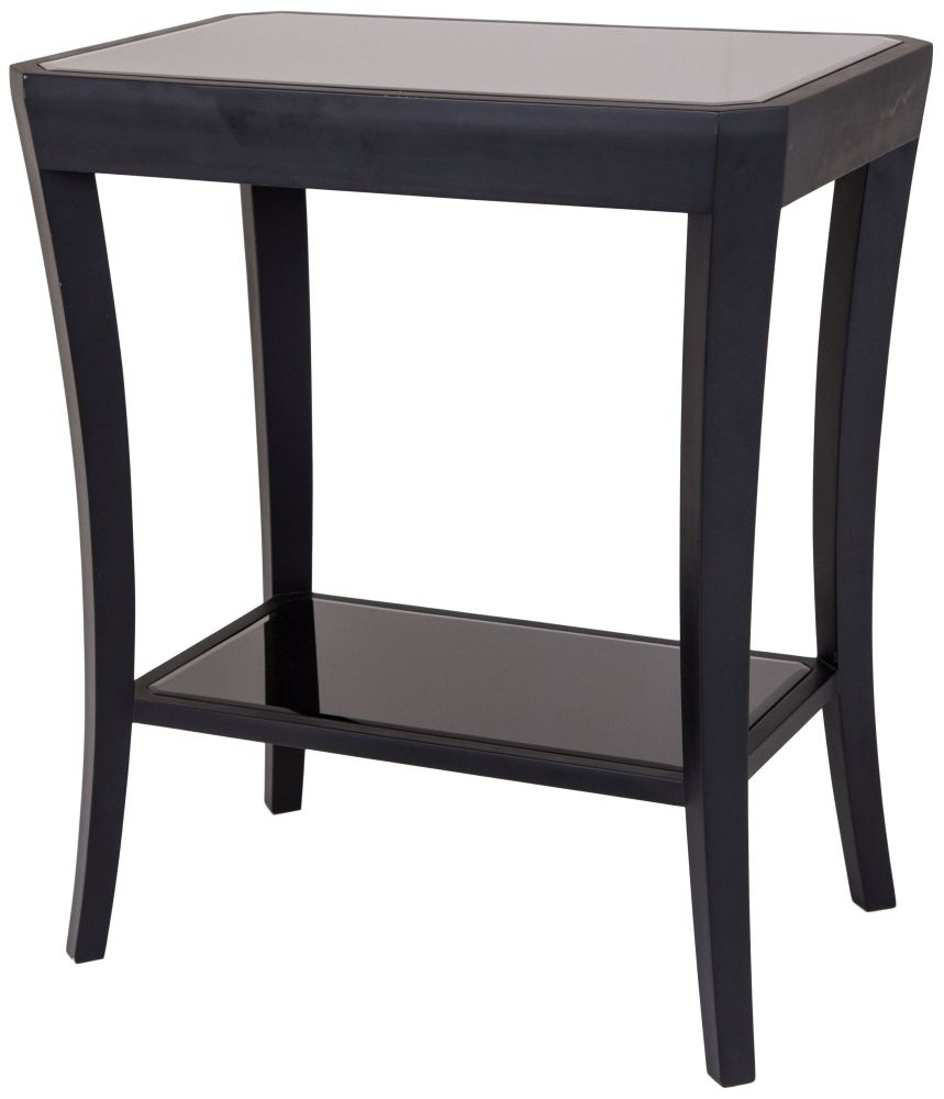 Buy Rv Astley Hyde Black 1 Shelf Side Table Online Cfs Uk