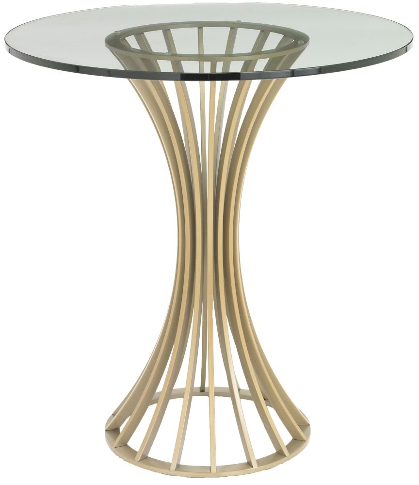 RV Astley Lanza Satin Champagne Side Table