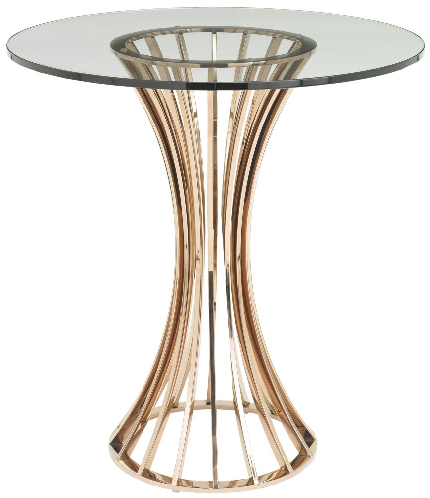 RV Astley Lanza Shiny Rose Side Table