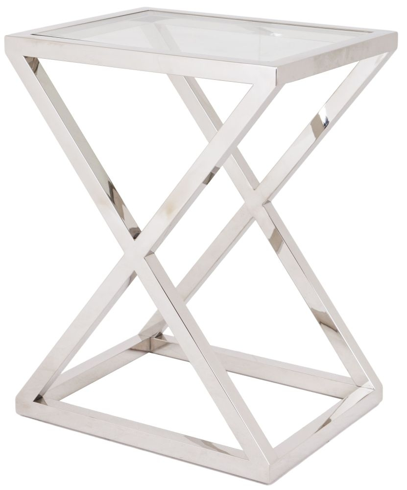 RV Astley Nico Stainless Steel Side Table