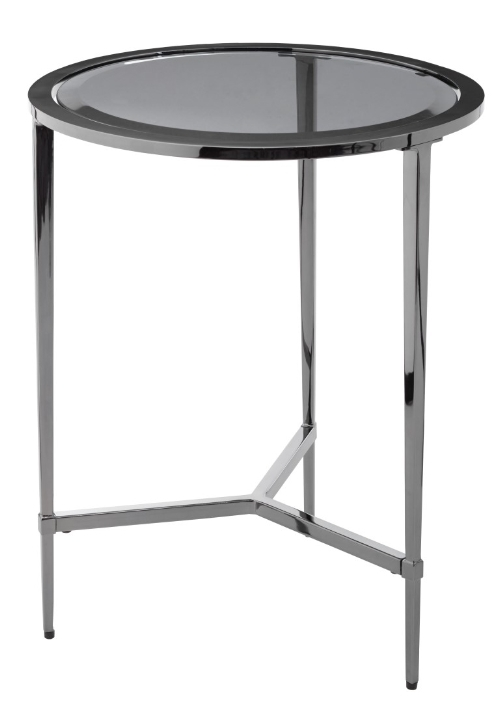 RV Astley Orieto Accent Side Table Crome Finish