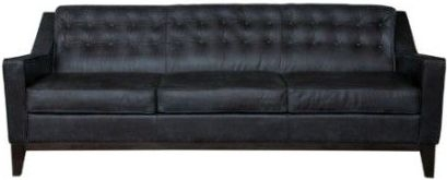 RV Astley Borgen 3 Seater Sofa - Biscuit Leather and Oak