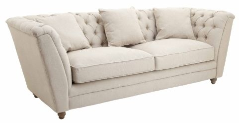 RV Astley Ely 3 Seater Sofa Natural