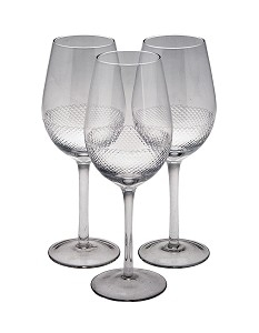 RV Astley Diamond Cutting Wine Glass - Set of 4