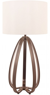 RV Astley Abbot Table Lamp In Dark Antique Brass