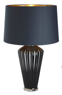 RV Astley Camila Grey Glass Table Lamp Base Only