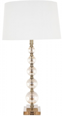 RV Astley Cara Tall Cognac Glass Ball Table Lamp Base Only