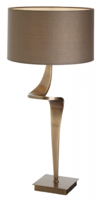 RV Astley Enzo Antique Brass Table Lamp - Large