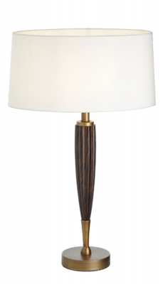 RV Astley Girona Wood and Antique Brass Table Lamp