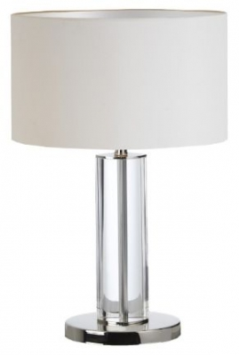 RV Astley Lisle Clear Table Lamp with Nickle Finish