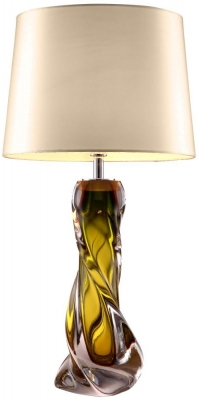 RV Astley Oriana Olive Green Glass Table Lamp Base Only