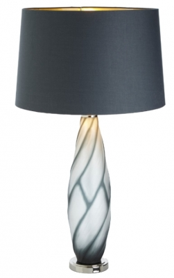RV Astley Sofia Grey Glass Table Lamp Base Only