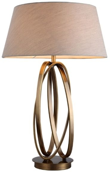 RV Astley Brisa Antique Brass Table Lamp