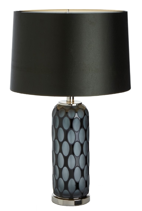 RV Astley Emma Grey and Glass Table Lamp
