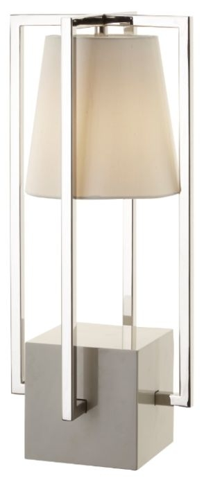 RV Astley Huricane Table Lamp Nickel Finish