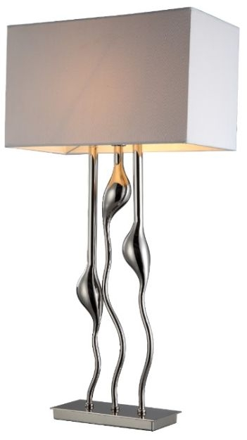 RV Astley Isis Triple Stem Nickel Table Lamp