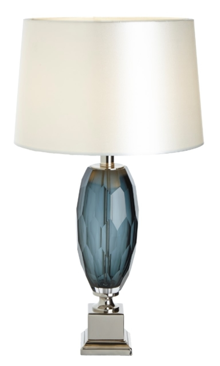 RV Astley Lucia Grey Glass Table Lamp