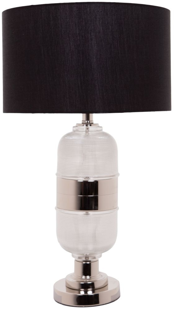 RV Astley Malin Glass And Nickel Table Lamp
