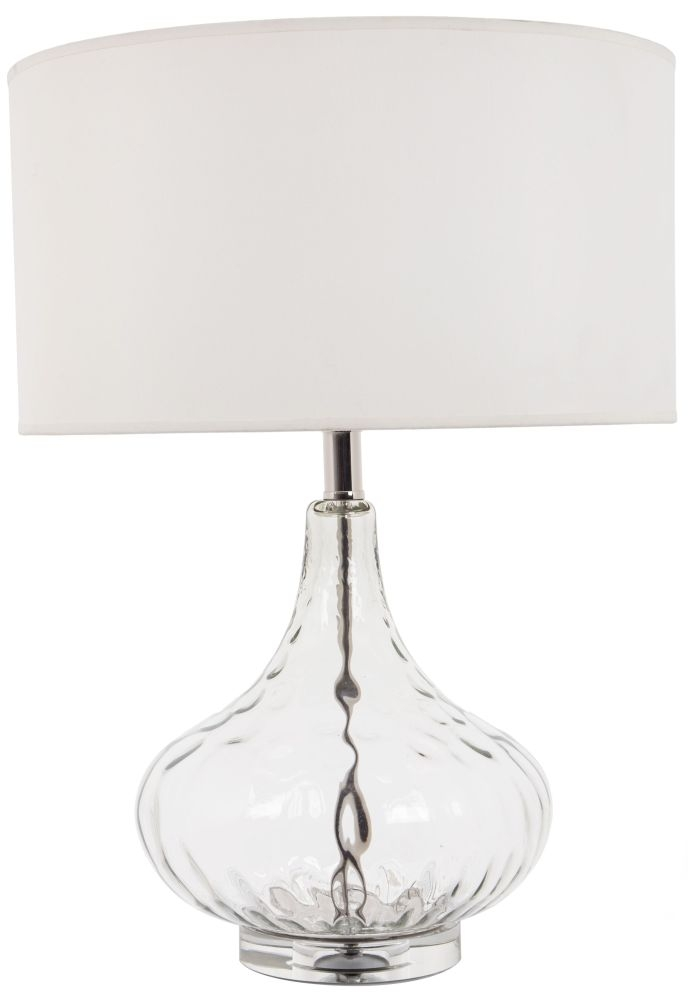 RV Astley Marit Cognac Glass Table Lamp
