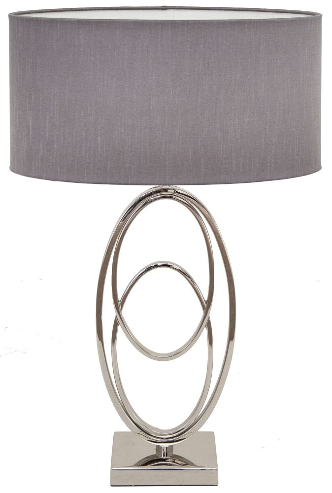 RV Astley Oval Rings Nickel Table Lamp